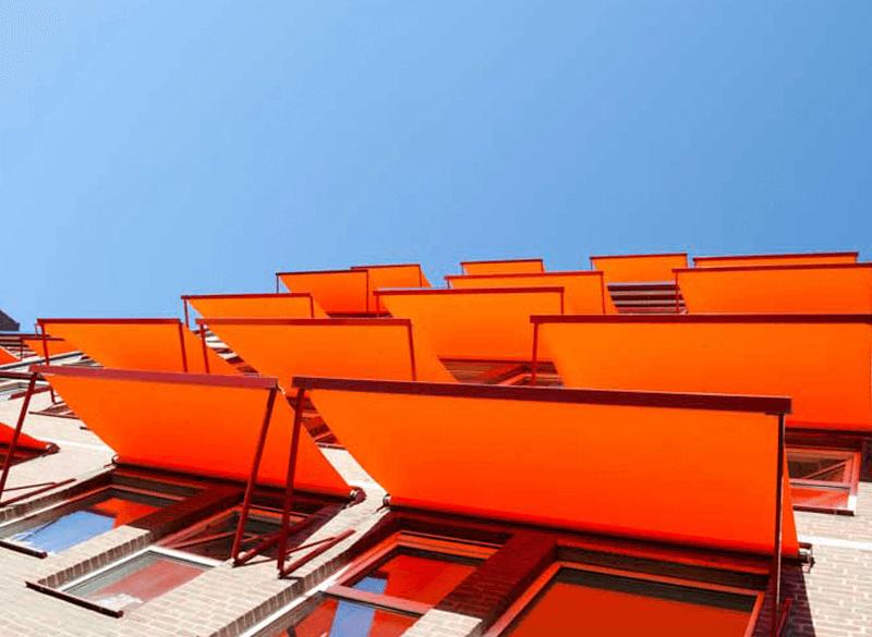 Toldos para comunidades de edificios y oficinas